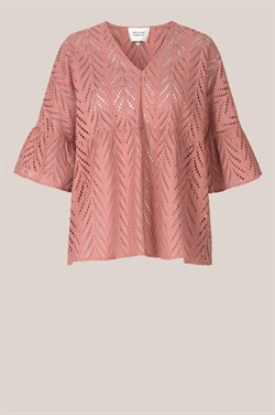 Second Female Bluse - Faith SS Blouse, Mocha Mousse