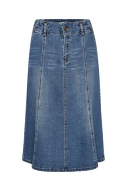 Denim Hunter Nederdel - DHVitus Denim Skirt, Medium Blue retro wash
