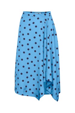 Gestuz Nederdel - Elsie skirt, Blue Navy Dot