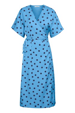 Gestuz Kjole - Elsie Wrap dress, Blue Navy Dot