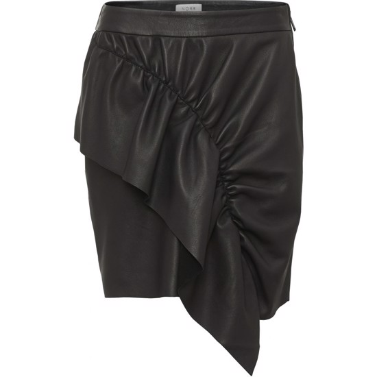 NORR Nederdel - Marlene Leather Skirt, Black