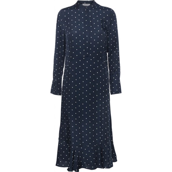 NORR kjole - Shirin Dress, Navy Dot