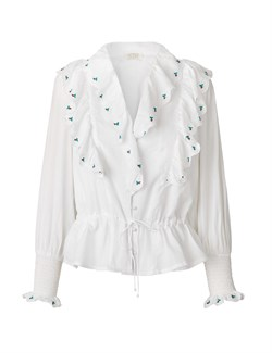 NOTES DU NORD bluse - TENNA blouse, White