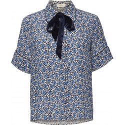 NORR Bluse - Seema Shirt - Blue Flower