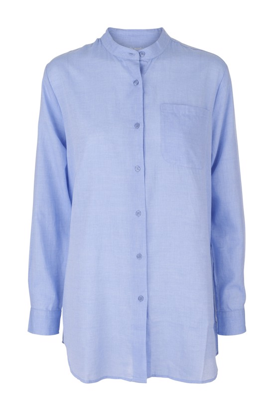 Moshi Moshi Mind skjorte - Always Shirt, Light Blue Chambray