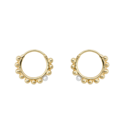 Anna+Nina Ørering - Cosmic Dust Ring Earring, Goldplated
