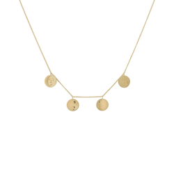 Anna+Nina Halskæde - Lunar Necklace, Goldplated