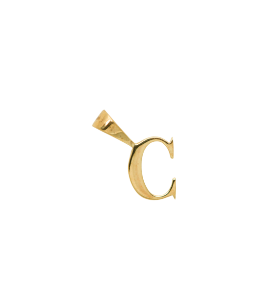 Anna+Nina Vedhæng - Initial Charm C, Goldplated