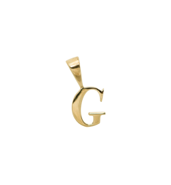 Anna+Nina Vedhæng - Initial Charm G, Goldplated