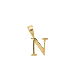 Anna+Nina Vedhæng - Initial Charm N, Goldplated