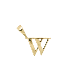 Anna+Nina Vedhæng - Initial Charm W, Goldplated
