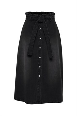 ICHI Nederdel - IHOLINA Skirt, Washed Black