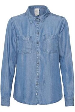 Denim Hunter skjorte -15 THE DENIM SHIRT, Light denim Blue