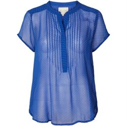 Lollys Laundry Bluse - Heather Shirt, Blue