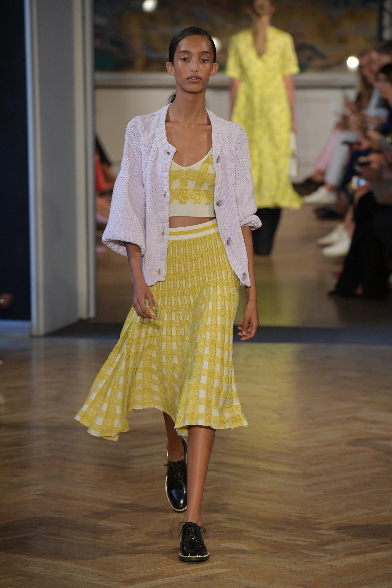 Baum und Pferdgarten Nederdel Cyrilla Skirt, Creamy Lemon Check