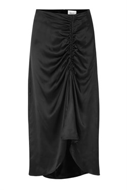 Second female Nederdel - Lily Midi Skirt, Black