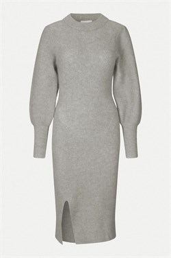 Second Female kjole - MIKA KNIT DRESS, Grey Melange