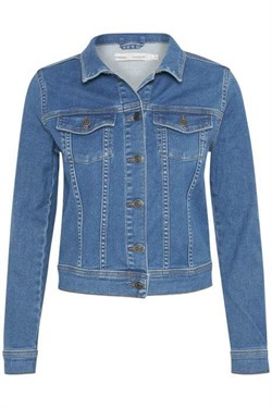 Inwear Denimjakke - LindyIW Elna Jacket, Blue Denim