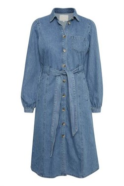 Part Two Kjole - HavinPW Dress, Medium blue denim