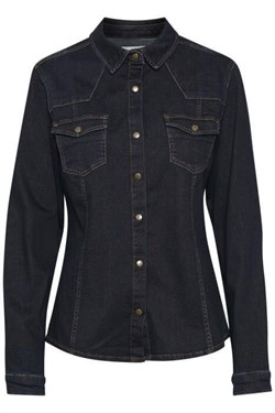 Denim Hunter skjorte - DHBlake Shirt, Light denim Blue un-wash