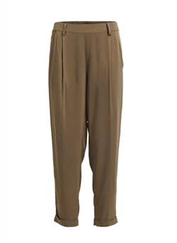 Rabens Saloner Bukser - Ageno Solid Seamed pleat Pant, Army