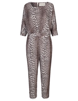 NOTES DU NORD Buksedragt - Ashlee Jumpsuit, Leopard