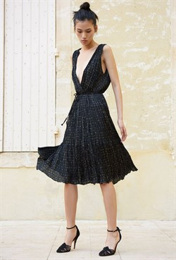 Mes Demoiselles Kjole - Balsan Dress, Polka Dots Black