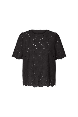 Lollys Laundry Bluse - Christina Blouse, Washed Black