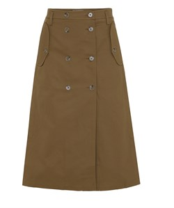 Rabens Saloner Nederdel - Chrissie Corded Canvas Skirt, Ginger