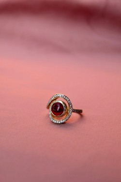 Joseph cph ring - Alvida Ruby Red ring, Gold