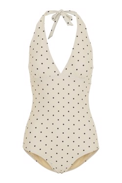 Moshi Moshi Mind Badedragt - Dotted Bella Swimsuit, Ecru/Black