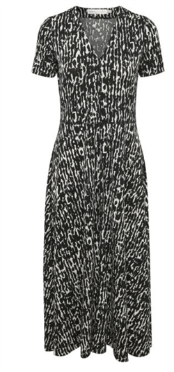 InWear Kjole - ElvinIW SS Dress, Black Textured Wall