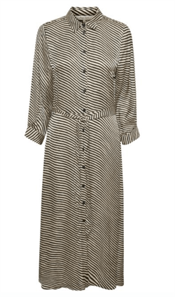 Part Two Kjole - FabrinaPW Dress, Stripe Print, black