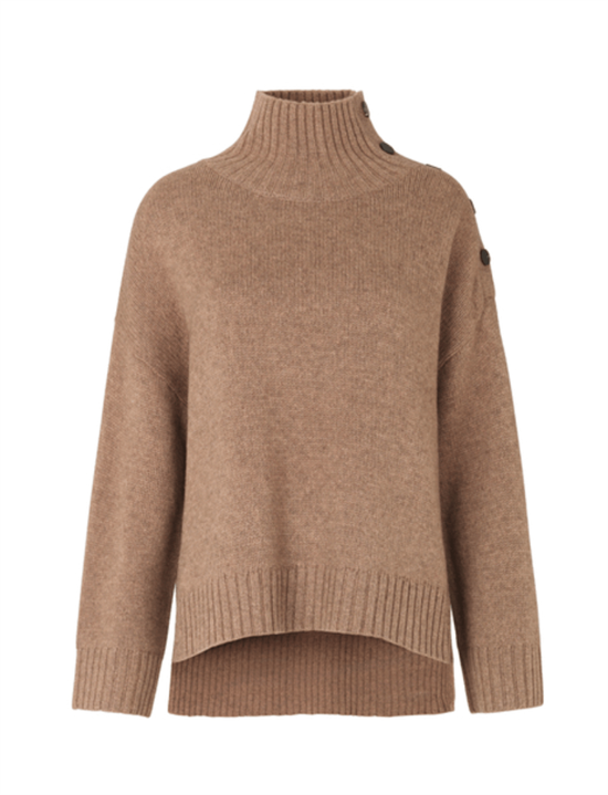 Second Female strik - Feist Knit T-Neck, Sepia Tint