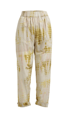 Rabens Saloner Bukser - Gemma Arrow Stripe Pant, Curry Combo