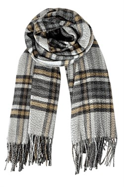 Black Colour tørklæde - Gerda Check Scarf, Sand