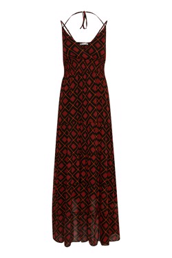 Gestuz Kjole - Erica Long dress, Red Square