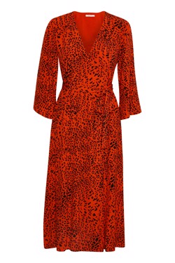 Gestuz Kjole - Loui dress, Red Leopard