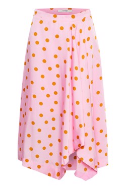 Gestuz Nederdel - Elsie skirt, Pink Orange Dot