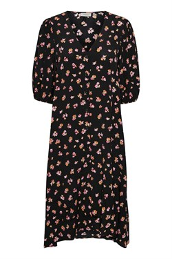 Gestuz Kjole - GitlaGZ Dress, Black pink flower