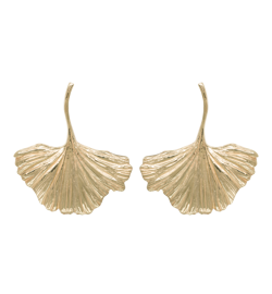 Anna+Nina Øreringe - Ginko Earrings, Goldplated