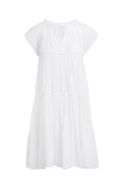 Rabens Saloner Kjole - Gisels Cotton Flare Short Dress, White