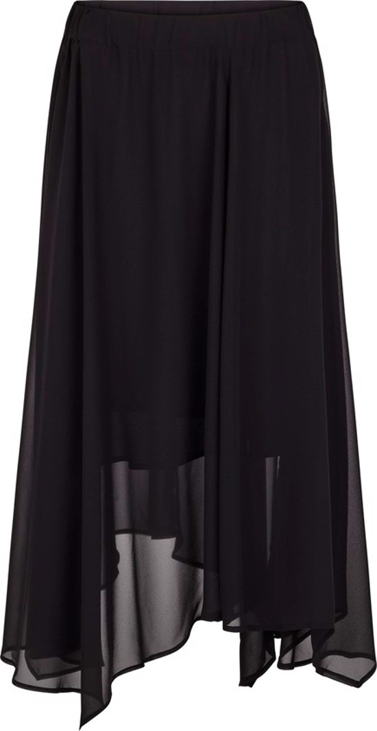 Just Female Nederdel - Handkerchief Hem Skirt,  Black