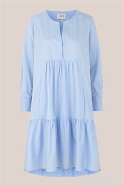 Second Female Skjorte kjole - Heaven LS Midi Dress, Chambray Blue