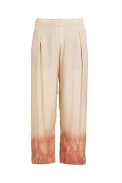 Rabens Saloner Bukser - Holly Freckled Border Pant, Sand Pink