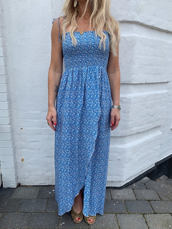 Hugs & Dreams Kjole - Maria Maxi Dress, Blue Floral Print