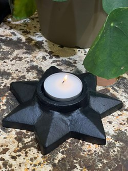 Cosy Living Copenhagen lysestage - CANDLE HOLDER STAR, Black