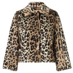 NOTES DU NORD Jakke - Ibi Faux Fur Jacket, Leopard
