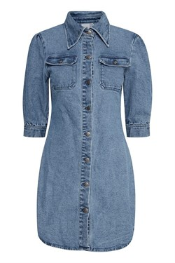ICHI Denim Kjole - Ixdolla Denim Dress, Medium Blue
