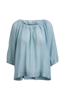 Rabens Saloner Bluse - Jeanice Airy Blouse, Light Blue